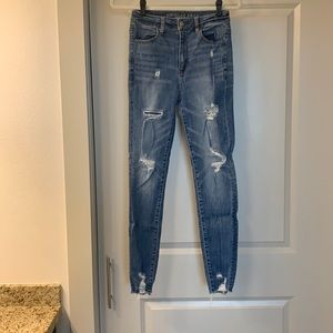 AE Highest rise ripped skinny jeans